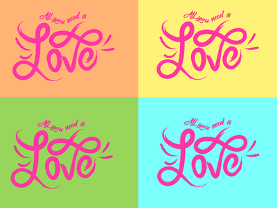 All you need is... illustration graphic adobeillustration vector v graphic design