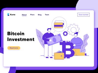 Bitcoin Illustration for Kuna Exchange