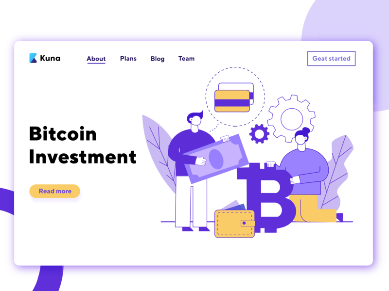 Bitcoin Illustration for Kuna Exchange illustration vector ai design graphic design