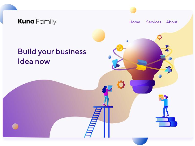 Illustration for Kuna Family vector illustration graphic design ui
