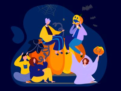 illustration halloween visa Ukraine