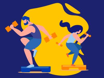 illustration sport for visa Ukraine