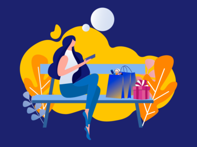 illustration cosmetics and girl for Visa Kazakhstan