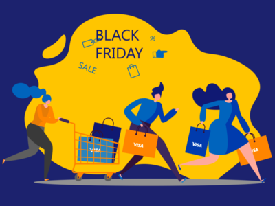"illustration ""Black Friday"" for Visa Ukraine graphicdesign graphic design ui ai illustration graphic design adobeillustration vector graphic design illustration"