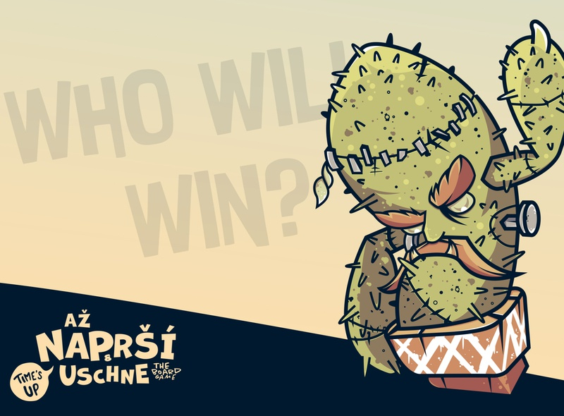 až NAPRŠÍ & USCHNE winner climate change nature frankenstein pot zombies zombie cactus zombie angry face angry desert plant cactus character concept character design character game design cartoon game erdir oh