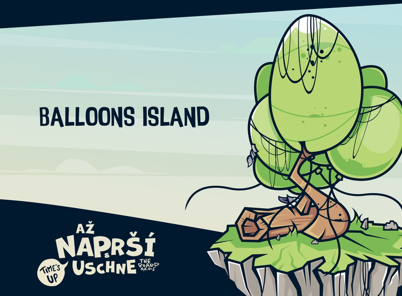 až NAPRŠÍ & USCHNE illustrator feather woods trees tree balloon logo game concept reservation natural nature park wood island balloons balloon character game design cartoon game erdir oh