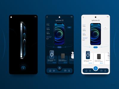 Mobile app for selling apple products iphone12 iphone mobile app design application apple app creative uiux web webdesigner ux ui slixel freelance figma