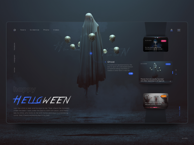 Website concept, a collection of various horror stories helloween concept horror stories site webdesign uiux web website ux ui webdesigner slixel freelance figma ghost