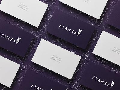 Stanza Business Card brand identity mockup business card design business card design branding
