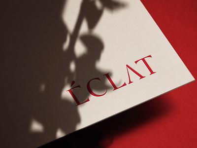Eclat Logo typography branding brand identity mockup logo design logo