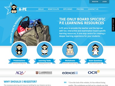 Website, Illustrations & Branding for A-PE website illustrations branding