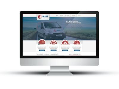 Russ Transport web design