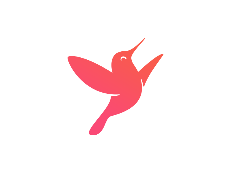 Colibri Yoga Retreats Logo (WIP) aspiring up light free vital vivid hummingbird colibri bird icon branding logo