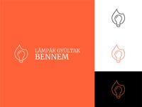 Lámpák Gyúltak Bennem Logo Design