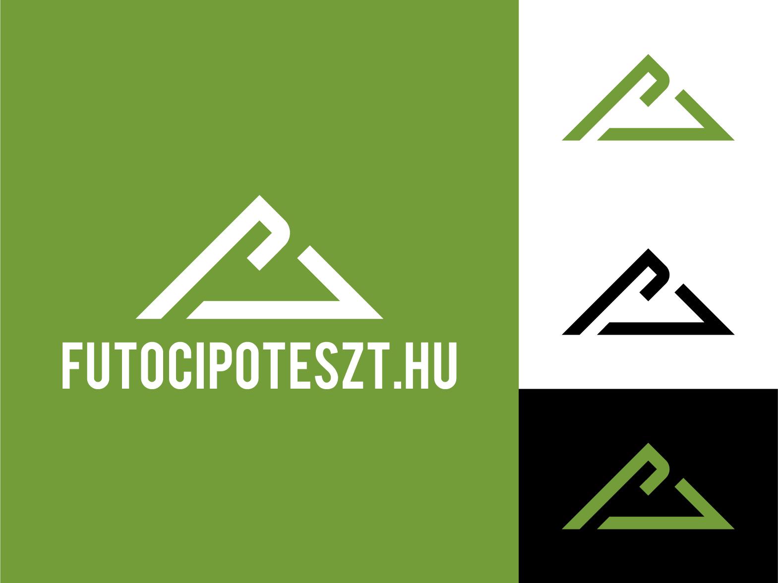 futocipoteszt.hu logo webshop test shoes boots running run motivation design modern logo design graphic  design icon branding vector logo