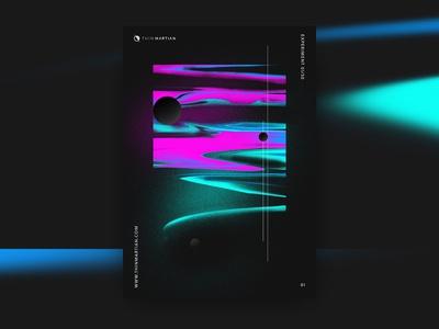 Space and Technology Visual Exploration design abstract poster print visual design visua art thin martian technology science glow fluorescent dust nasa space deep
