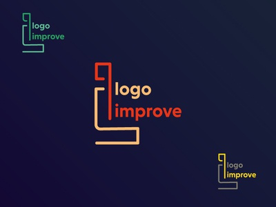 Logo Improve - Thanks for the follow design agency minimal identity lettering web photoshop branding typography logo icon vector illustration design