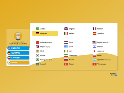 Rosetta Stone - Categories  - Daily UI