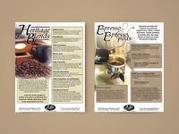 Ads & Flyer Design: Ellis Coffee