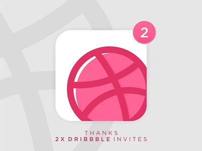 2X Dribbble Invite icon dribbbleinvites