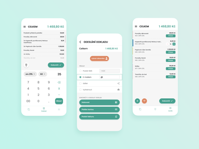 Enter Mobile - Point of Sale price list cash register checkout pos payment cards bill app mobile uidesign calculate simple light android ios ux ui