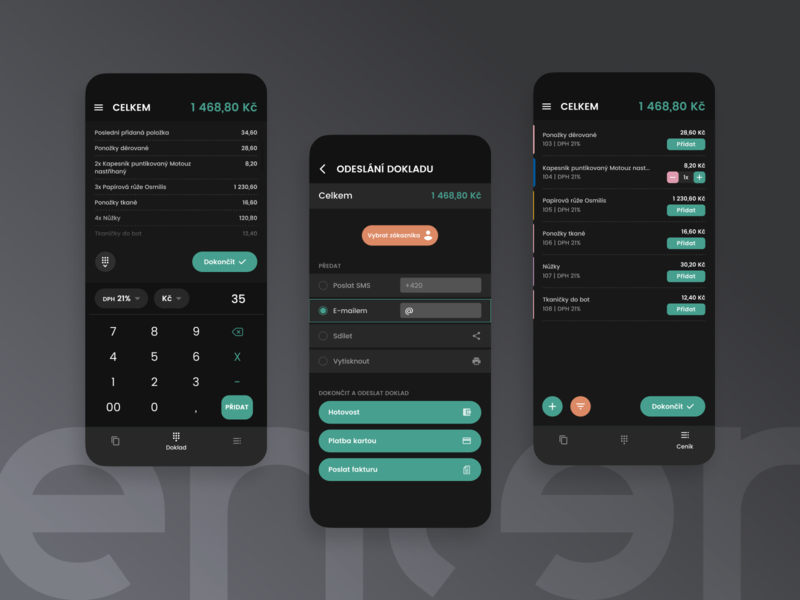 Enter Mobile - Point of Sale [Dark Mode]
