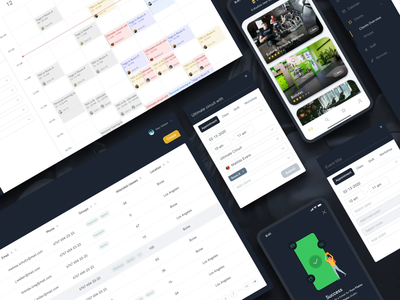 Sindro - The solution for boutique fitness studios location workout studio schedule appointment portal event admin gym fitness webapp dark mobile ios logo branding webdesign ux ui