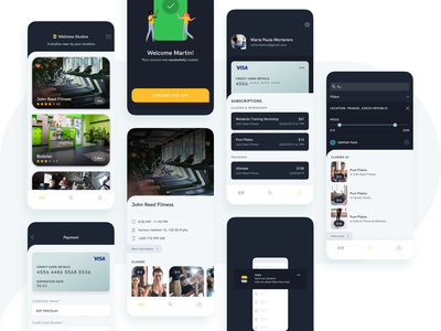 Sindro - Behance Case Study boutique member sport studio appointment ux ui tracker gym event ios app mobile fitness workout location