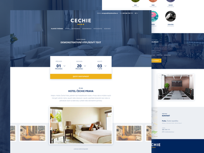 Hotel Cechie room booking logo uidesign typography ux ui reservation hotel website web branding