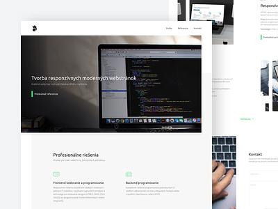 Portfolio for Web Developer clean flat webdesign landing page icon typography ux ui agency portfolio