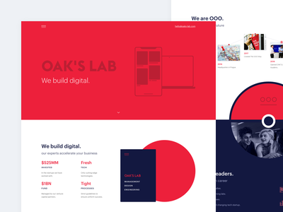 Portfolio for Digital Agency illustration portfolio agency ui ux typography icon landing page webdesign flat clean