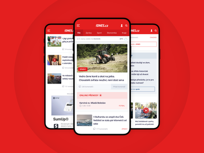 Responsive website for iDNES article iphonex feed publishing news magazine ios design website mobile webdesign ux ui