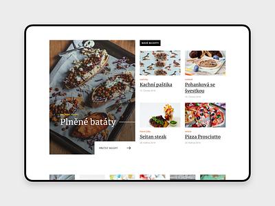 [WIP] Food Blog article webdesign magazine website header typography ux ui blog food