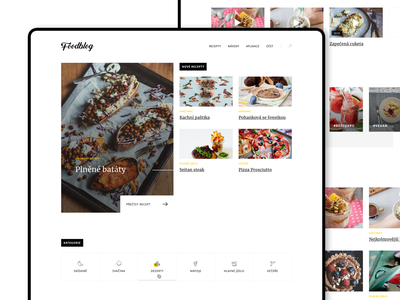 [WIP] Food Blog simple minimal typography web design grid article blog food magazine icons illustration website webdesign ux ui