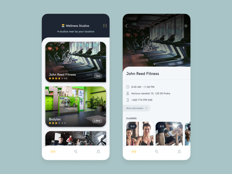 [iOS] Sindro Member App fitness training workout location studio gym mobile member ios ux ui