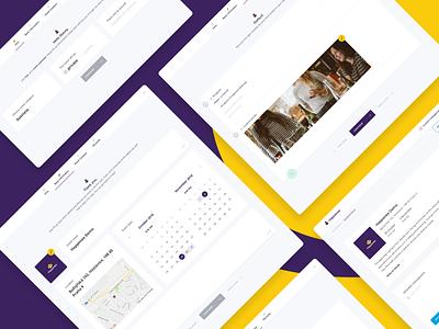 Happenee - Version 2 ux ui design branding schedule meeting party app web program location assistant event create logo
