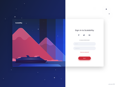 Login page illustration user interface experience ui  ux design design clean modern minimal sign in dailyui