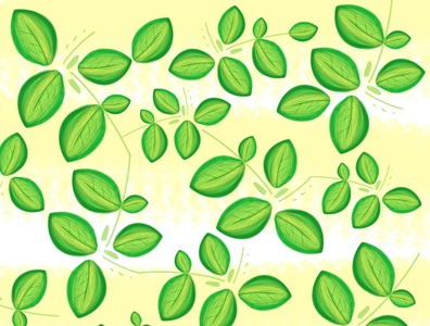 Green doodle a day textile design surface design texture wacom ilustración diseño brush design illustration