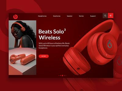 Beats by dre UI headphones design ux ui beatsbydre beats