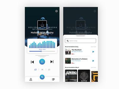 Music app mobile app mobile app design mobile ui