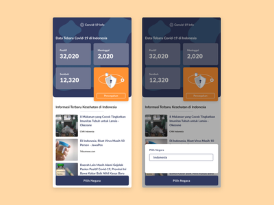 Covid-19 Info Mobile App Design mobile ui mobile app design news design