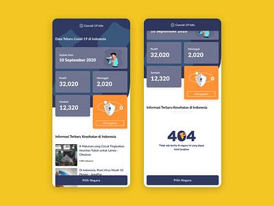 Covid19 App Update website concept website builder mobile app design mobile ui website design