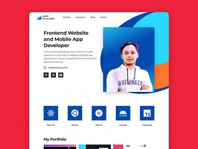 Website Portfolio webdesign website typography ui ux logo branding website concept website builder design