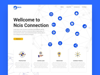 Ecis Connection White website concept website builder