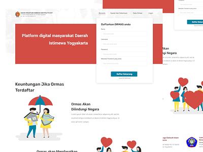 Organisasi Masyarakat website webdesign design