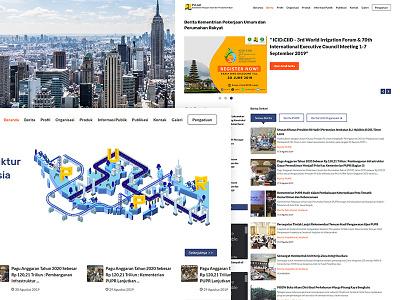 PUPR web design character creative oraganization develop news bussines illustration design website website builder