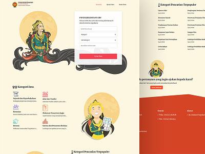 jogjabudaya design oraganization website builder illustration website