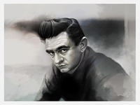Caroline Vos Illustration Johnny Cash