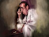 Caroline Vos Illustration Humphrey Bogart