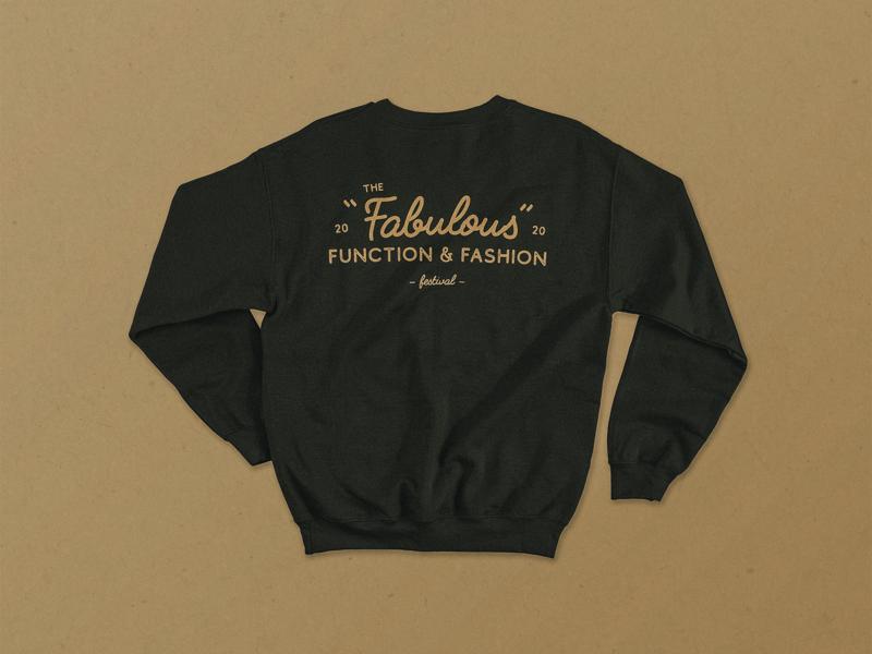 Fabulous Function & Fashion   Sweater Mockup vector hand drawn graphicdesign mockup illustration typography logodesign logo design branding